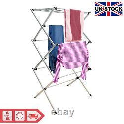 3 Tier Clothes Airer Laundry Drying Large Stand Indoor Outdoor Drying Horse Rack