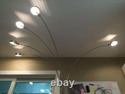 5 Arm Floor Lamp Adjustable Arch with Dimmer 84 Metal Living Room Reading Decor