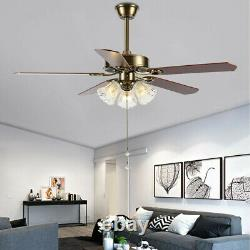 52'' Ceiling Fan Light LED Dimmable Remote Control With Light Kit Lamp Modern
