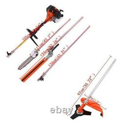 52cc Heavy Duty 5 In 1 Multifunction Petrol Trimmer Grass Trimmer Outdoor Cutter