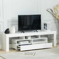 65 Modern TV Stand Cabinet Console Unit with LED Light Entertainment Center
