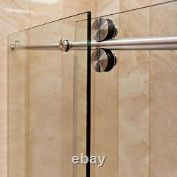 68-72Wx79Hx36D Shower Enclosure ULTRA-D Brushed Nickel by LessCare
