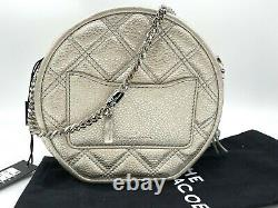 AUTH $450 NWT Marc Jacobs Status Round Quilted Leather Crossbody Bag NEW