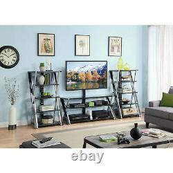 Audio Video Rack Tower Storage Stand Shelf Stereo Equipment Cabinet Table