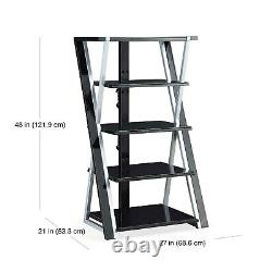 Audio Video Rack Tower Storage Stand Shelf Stereo Equipment Cabinet Table NEW