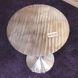 Beel 51cm Round Side Table Gold or Silver Coffee End Luxury Modern