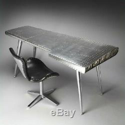 Butler Specialty Industrial Chic Midway Aviator Desk in Silver