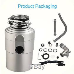 Commercial 1.5HP Garbage Disposal Continuous Food Kitchen Waste with 3600 RPM