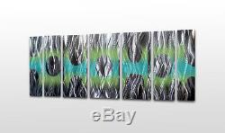Contemporary Metal Wall Art Panels Modern Abstract Sculpture Painting Home Decor
