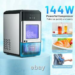 Costway Nugget Ice Maker Countertop 44lbs Per Day withIce Scoop and Self-Cleaning