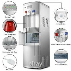 Costway Top Loading Water Dispenser WithBuilt-In Ice Maker Machine Hot Cold Water