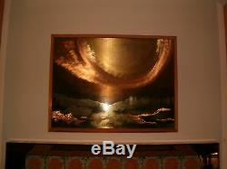 DALE CLARK MODERN Metal Copper Silver Gold Painting 4 ft X3 ft ONE OF A KIND $4K