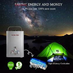 Gasland Outdoors BE158S 1.58GPM 6L Portable Gas Tankless Water Heater, RV Camping