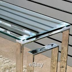 Geo Silver Metal Tables Clear Glass Top Coffee Table Living Room Furniture Set