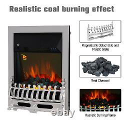 HOMCOM Electric Fireplace 1 & 2KW LED Fire Remote Control Heater