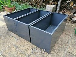 Hand-made modern painted steel garden planter / trough with FREE UK delivery