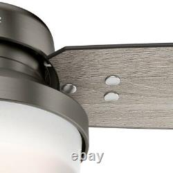 Hunter Fan 52 inch Contemporary Brushed Slate Indoor Ceiling Fan with Light Kit