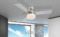 Indoor ceiling fan with light and remote control ALANA Nickel 105 cm 42
