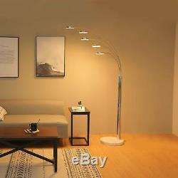 LED Floor Lamp with 5 Curving Lamp Heads & Three-way Touch Dimmer Switch New