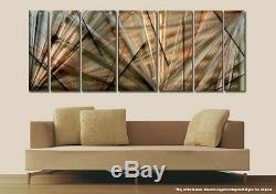 Large Abstract GOLD SILVER BLACK Metal Wall Art 68 × 24 Designed by Jon Allen