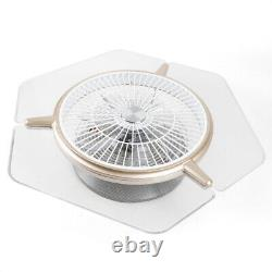 Low Profile Ceiling Fan Light LED Transparent Lamp Remote Dimmable Color & Speed