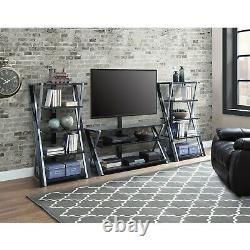 Media Tower Rack Shelves Entertainment Console Unit Audio Stereo Stand Storage