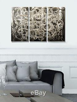 Metal Modern Abstract Wall Art Painting Sculpture Home Decor Complex Decision