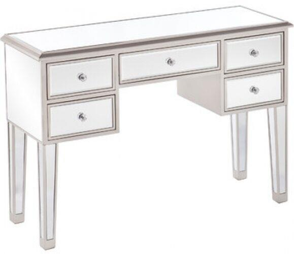 Mirrored Console Vanity Desk Storage Display Table W Drawers Bedroom Room Decor