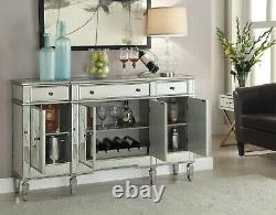 Modern 7-Piece Dining Set White Glass Polished Stainless Steel, Choice of Velvet