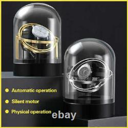 Modern Design Automatic Rotation Single Gyro Watch Winder with Mainspring Silve