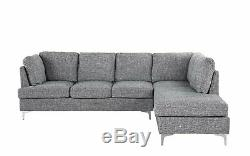 Modern Home 101.1 inch Sectional Sofa, XL Living Room L-Shape Couch, Light Grey