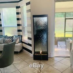 Modern Mirror WATER FOUNTAIN Lighted 72 Indoor Decor Waterfall Contemporary New