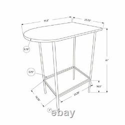 Monarch Metal Pub Table in Black and Silver