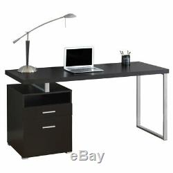 Monarch Specialties 60 Modern Home Computer Desk with Filing Drawer, Cappuccino