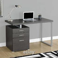 Monarch Specialties Left/Right Facing 47 Modern Home Office Computer Desk, Gray