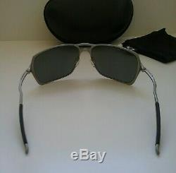 NEW OAKLEY INMATE LIGHT SILVER with BLACK POLARIZED Sunglasses probation juliet xx