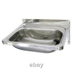 New Hand Wall Basin Sink Stainless Steel Metal Laundry Trough PCH 50 x 40 x 21cm