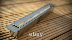 New bio ethanol container firebox burner with adjustable lid 0.75l 530 mm