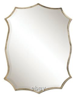 Oxidized Silver Nickel Metal Beveled Wall Mirror 30 Contemporary Vanity Horchow