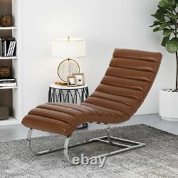 Pearsall Modern Channel Stitch Chaise Lounge