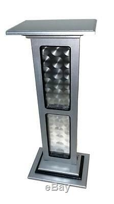 Pedestal, Stand, Wooden, Metal, Floor Stand, Silver, black, Contemporary, Unique