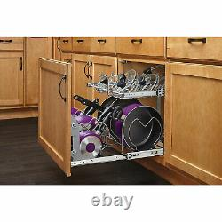 Rev-A-Shelf 21-Inch 2-Tier Pots and Pans Wire Cookware Cabinet Storage Organizer