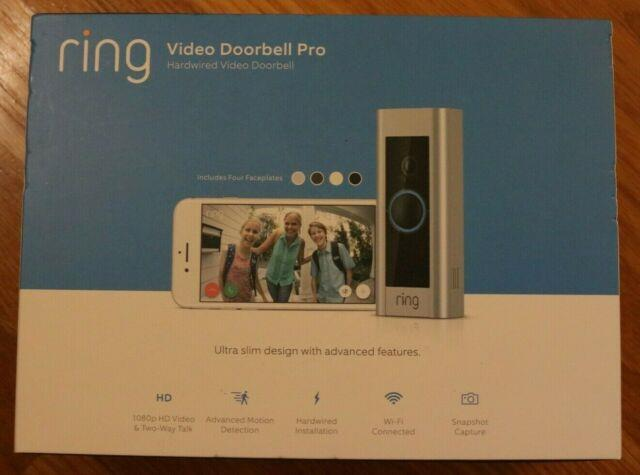 Ring Video Doorbell Pro 1080p Wi-fi Hard Wired Smart Hd Camera With Night Vision