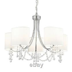 Searchlight 5 Lights Traditional Chrome Ceiling Fitting Pendant Chandelier Light