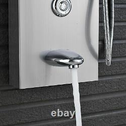Shower Panel Column Tower System Faucet Rain Head Spa Jet Bathtub Brushed Nickel
