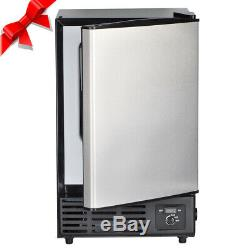 Smad Built-In Undercounter Commercial Ice Maker Stainless Steel Ice Cube Machine
