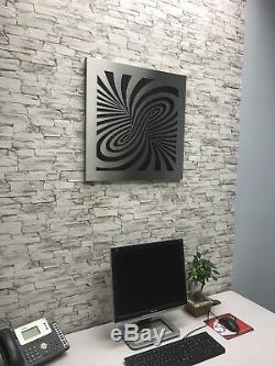 Stainless Steel Laser Cut Wall Art Decor Man Cave Illusion