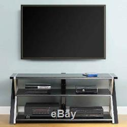 TV Stand Storage for TVs up to 70 inches with 3 Display Options for Flat Screen