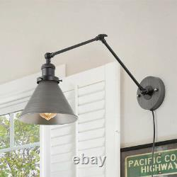 Wall Lamp Adjustable Wall Sconces Plug-in Sconces Wall Lighting Silver Brushed