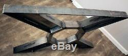 X-Frame Hand Welded Steel Table Legs Industrial, Modern, Strong